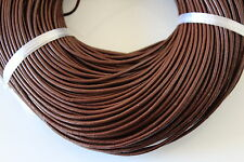 Leather Cord, Thong- Tan, Brown or Black - 1mm, 1.5mm, 2mm, 3 or 4mm / coil ends