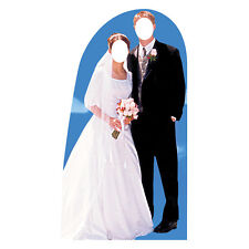 BRIDE AND GROOM Wedding Stand-In CARDBOARD CUTOUT Standin Standup Standee Prop