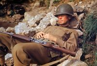 COLOR WW2 Photo WWII US Army Soldier M1 Carbine Rome Italy 1944 World War / 1219