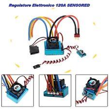 120A ESC Regolatore di velocità Brushless Sensored per 1/8 1/10 1/12 auto