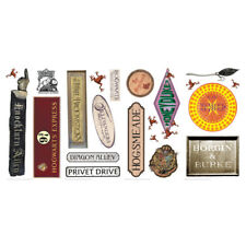 HARRY POTTER SIGNS WaLL Sticker Weasley Honey Dukes Hogwarts Room Decor Stickers