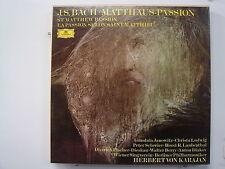 KARAJAN Bach/ St. Mathews Passion 4LP BOX SET Import ITALY DG 2862 093 Stereo