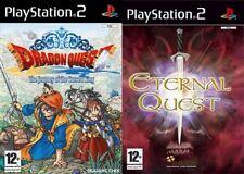 Dragon quest el periplo del rey maldito & eterna búsqueda PAL PS2