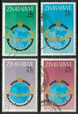Zimbabwe 1980 Rotary International Club set SG 591-594 used *COMBINED SHIPPING*