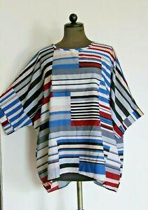 Kaftan Kimono bunt BW-Polyester gestreift 56 cm uni size bis Größe 44 /46