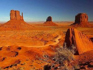Landscape Arizona Monument Valley Desert Rock Large Poster Print
