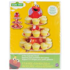 Wiltons Elmo 3 Tier Cupcake Stand Rare Brand New Sealed In Pack