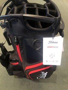 TITLEIST 2021 HYBRID 14 WAY STAND BAG MODEL#TB21SX14-006 Black/Black/Red
