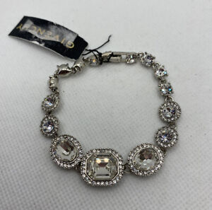 NEW Givenchy Silver Tone Clear Crystal Bracelet FREE Shipping