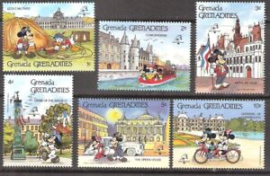 Grenada Grenadines 1989 Disney Characters France PHILEXFRANCE MNH (SC# 1057-1062