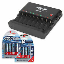 ANSMANN Battery charger Powerline 8 + 8pcs AA Batteries 2850mAh
