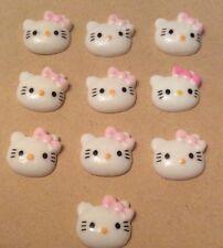 10 x gatto Flatback Cabochon in Resina Crafts