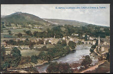 Wales Postcard - Llangollen - Castle Dinas and Town  B1134