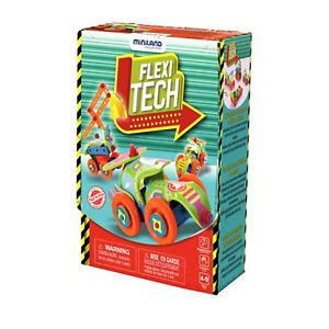 Miniland Flexi Tech Construction Set Vehicle Build Kit Creative Educational Kids