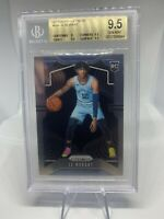 2019-20 Panini Prizm #249 Ja Morant Rookie RC Base BGS 9.5 Gem Mint Grizzlies
