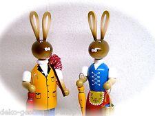 Coniglietto di pasqua Paio Escursionisti 37 cm Decorazione Legno Lepri colorato