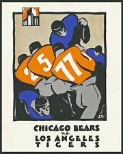 1926 Game Program Bears vs LA Tigers - Art Print, 8x10 Color Photo