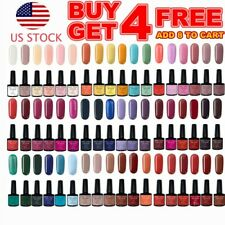 140 Colors Gel Nail Polish Shiny Top Base Coat UV Soak Off 7ml Buy 4 Get 4 Free