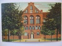 Elmshorn Gymnasium mit Bismarckdenkmal 1922 (6901)