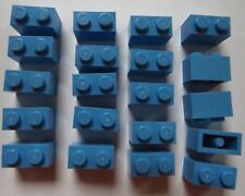 LOT DE 20 LEGO 3004 / 4178833 BRIQUE 1X2 BLUE MEDIUM NEUF !