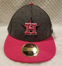 HOUSTON ASTROS 7 1/2 MOTHER'S DAY HAT CAP PINK FITTED NEW ERA LOW PROFILE MENS