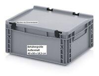Stabile Allzweck Aufbewahrungskiste mit Scharnier-Deckel 40x30x18,5 Stapelboxen