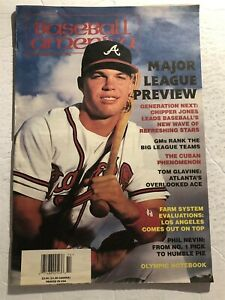 1996 Baseball America ATLANTA Braves CHIPPER JONES EX Large Sized MLB Preview