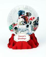 Christmas Dogs Snow Globe Pop Up Christmas Card by Up With Paper Brand New
