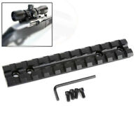Ruger 10/22 Scope Mount Base Picatinny Rail Scope Mount Low Profile BLACK