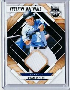 2020 ELITE EXTRA ED EVAN WHITE PROSPECT MATERIALS ROOKIE JERSEY MARINERS PD