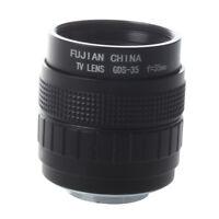 35mm F1.7 C Mount CCTV Lens Black for M4/3 Camera  PEN E-PL5 E-PM3 SY CS