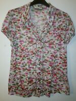 M&S Per Una short sleeved Floral Blouse Size 14 marks and Spencer