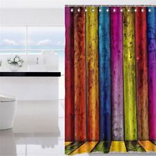 UK Waterproof Fabric Bathroom Shower Curtain Sheer Panel Decor 12 Hooks New