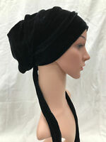 Velvet Turban Rasta Beanie Baggy Head Hair Wrap Hat Hijab African Plain Chem Cap