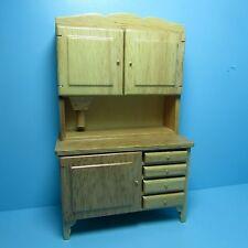 Dollhouse Miniature Kitchen Hutch / Flour Bin Cabinet in Oak ~ T6106N