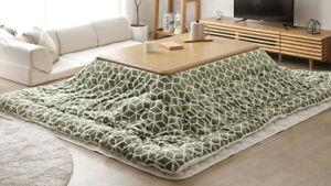 Kotatsu table 120x80cm washable fluffy futon set waterproof finish /Japan F/S