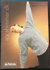 Patons Sweater/Jumper Icy Shimmer DK Knitting Pattern (2371)