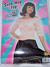 Size 14-16 Women's Pink Sock Hop Top 50's School Costume Cosplay Halloween Dance