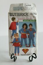 Butterick Supe Man, Super Women Costume #5862 Size: 5,6,6X (GM10)