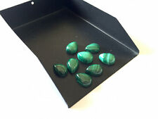 8 Pieces Pear Shaped Smooth Malachite Cabochon, Calibrated Malachite 7x10mm ML7