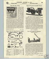 1937 PAPER AD Railroad Detroit Pneumatic Turntable Tractor Cook Hot Box Cooler +