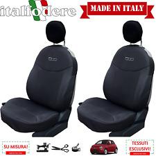 COPPIA COPRISEDILI Fiat 500 SU MISURA! Fodere Foderine Solo Anteriori Antracite