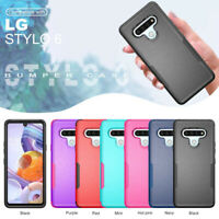 For LG Stylo 6 Phone Case Heavy Duty Shockproof Rugged Hybrid Armor Rubber Cover