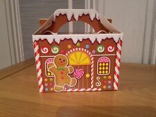 5 x Christmas Party Gift Food Favour Boxes - Snowflakes Gingerbread House Elf