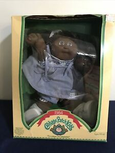 NOS Vintage 1984 Black African American Girl Cabbage Patch Doll #3900 In Box