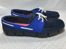 Swims Breeze Leap Lazer Men's Blue Boat Shoes Loafers Size-7