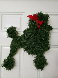 Handmade Poodle Christmas Wreath Dog Puppy French indoor outdoor
