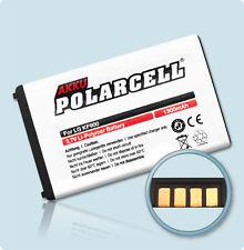 PolarCell Handy Akku Batterie für LG New Prada Phone (KF900) 1300mAh