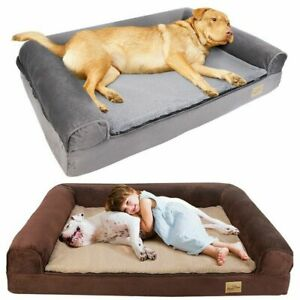 Jumbo XXL Memory Foam Dog Bed Pet Cuddler Couch Lounge Waterproof Washable Cover