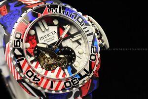 "Invicta 48mm Limtd Ed Auto ""MODERN ART OF ROMERO BRITTO"" Hydro plated Red Watch"